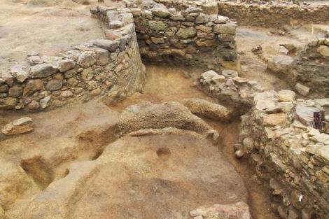 Excavación en el Monte do Castro, en la localidad pontevedresa de Ribadumia. | X. A.