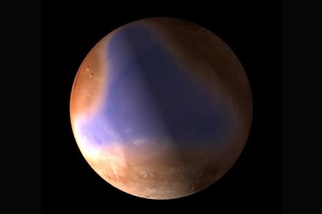 Recreación del antiguo océano marciano. | ESA