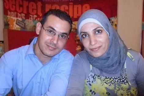 Ahmad y su esposa Shaimaa. | ELMUNDO.es