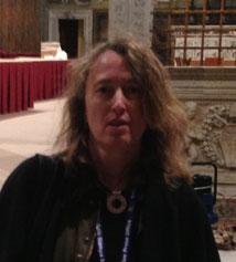 Elisabetta Piqué, en el Vaticano.