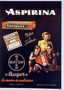 Cartel publicitario de Aspirina.   El Mundo