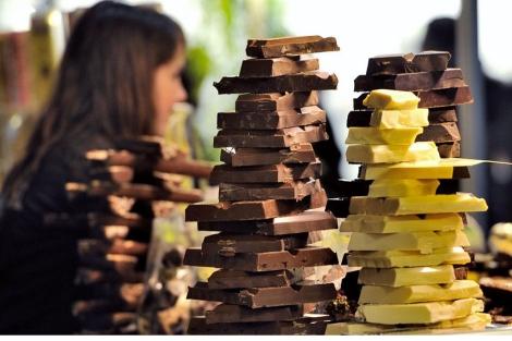 Varias barras de distintos chocolates.| Philippe Huguen