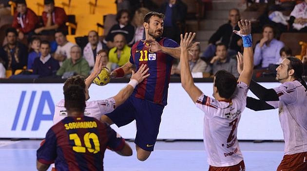 Barcelona apretó en el tramo<br /><br /> final ante un rival que le tuteó