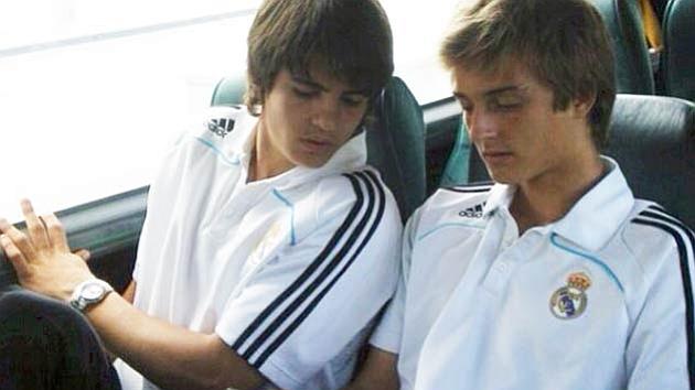 Morata y Sergio González, en su etapa con el filial blanco.