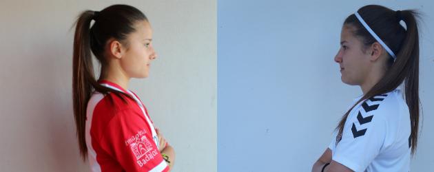 Sara (izquierda) y Eli (derecha) Del Estal, jugadoras del Santa Teresa y Fundación Albacete.
