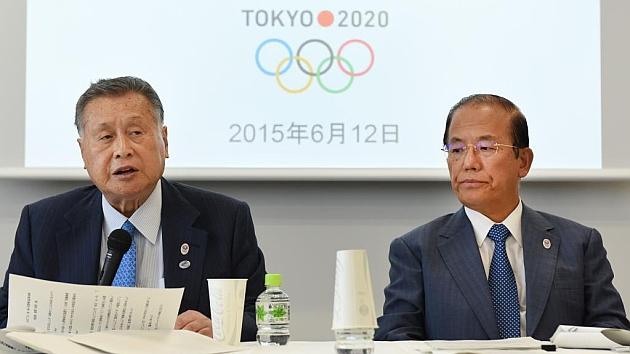 El presidente del comité organizador de Tokio 2020, Yoshiro Mori, en conferencia de prensa. Foto: AFP