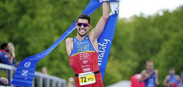 Alejandro Sánchez celebrando su victoria en la prueba de Londres