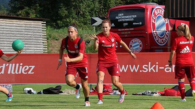 Vero Boquete durante un entrenamiento de pretemporada con el Bayern Münich.