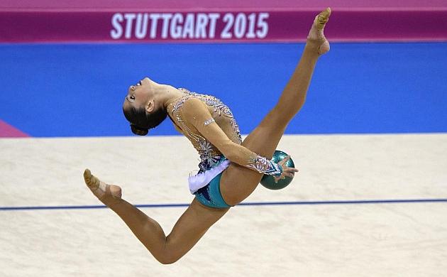 Carolina Rodríguez, en un momento de la final del Mundial 2015. Foto: AFP