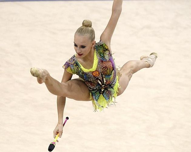 Yana Kudryavtseva, en el Mundial de 2015. Foto: AFP