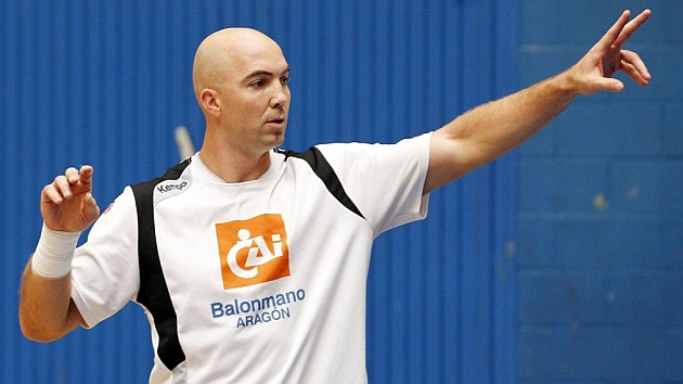 Demetrio Lozano, en un partido de la Liga Asobal.