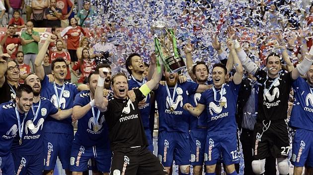 Movistar Inter celebra su título de campeón de Liga. Foto: Juanchi López (MARCA).