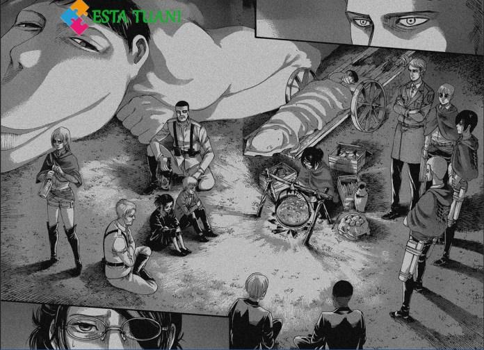 Shingeki no Kyojin manga 127, La Noche Apocaliptica,La Noche Apocaliptica