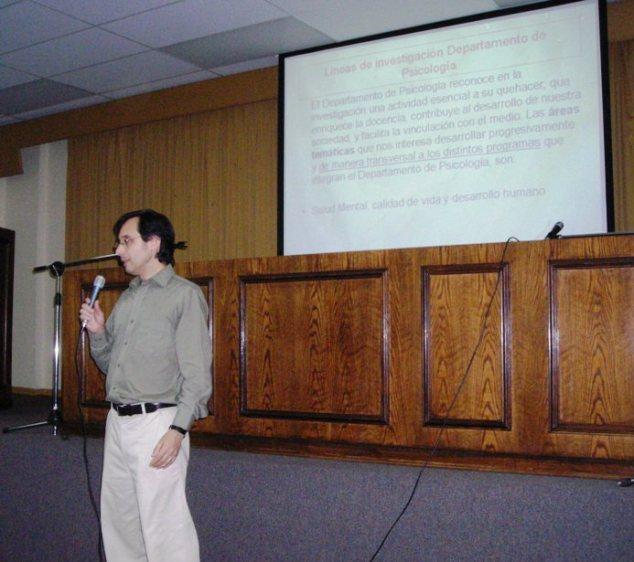 Gonzalo Miranda, Director del Departamento de Psicología