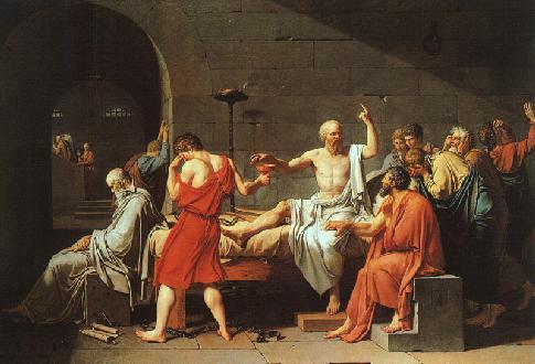 La muerte de Sócrates, de  Jacques-Louis David