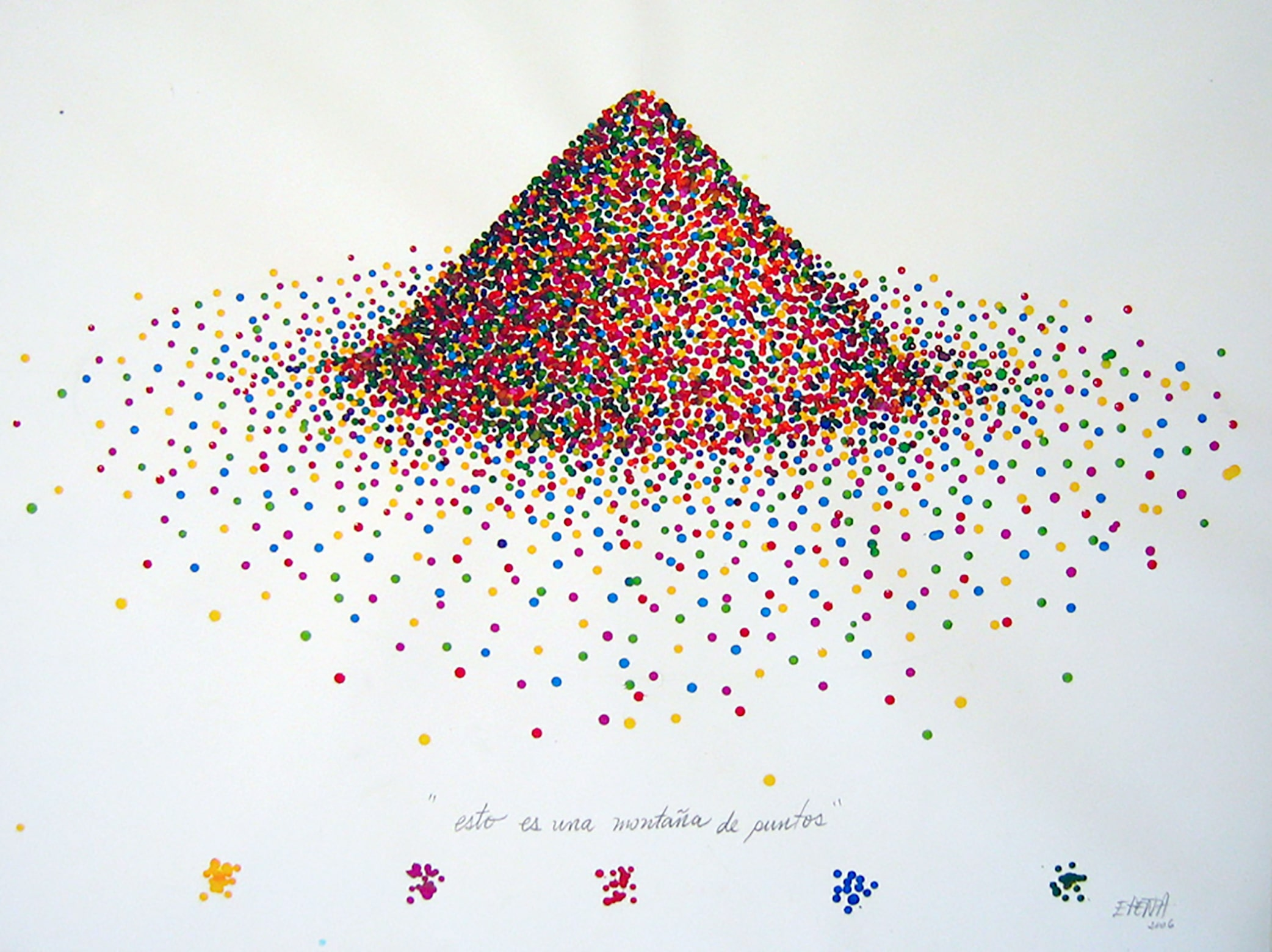 painting drops color mountain esteban peña art