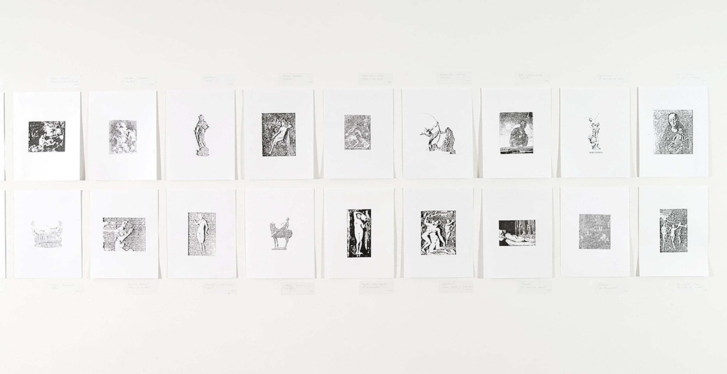 1000 drawings naked esteban peña art