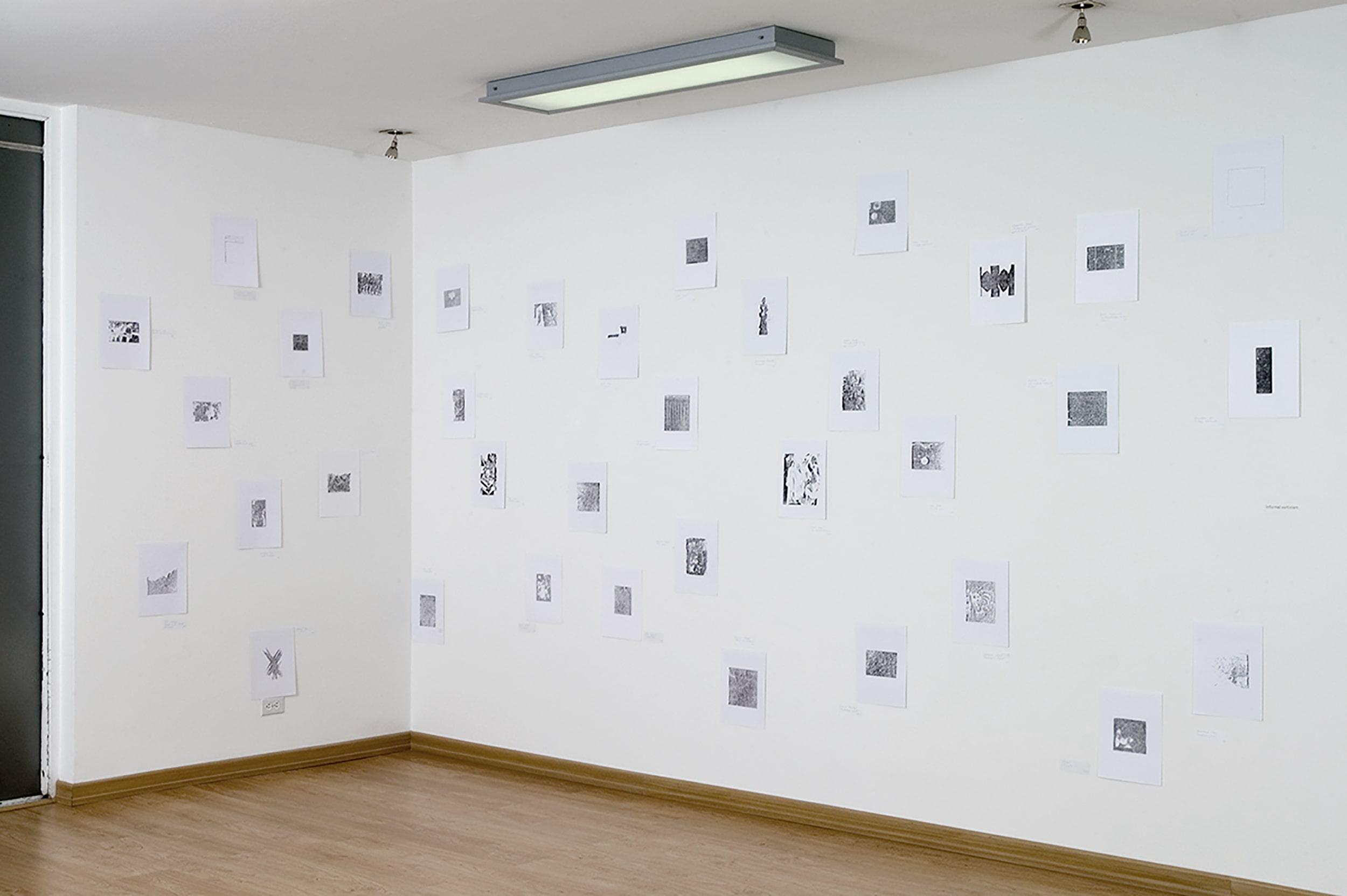 1000 drawings informel esteban peña art