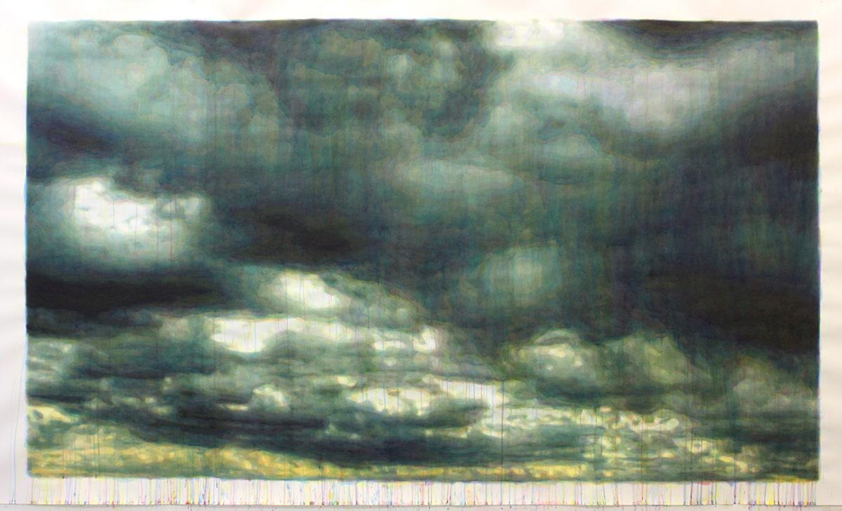 painting aguadas cloud esteban peña art