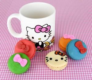 Hello Kitty Cafe Truck - macarons and mug 2