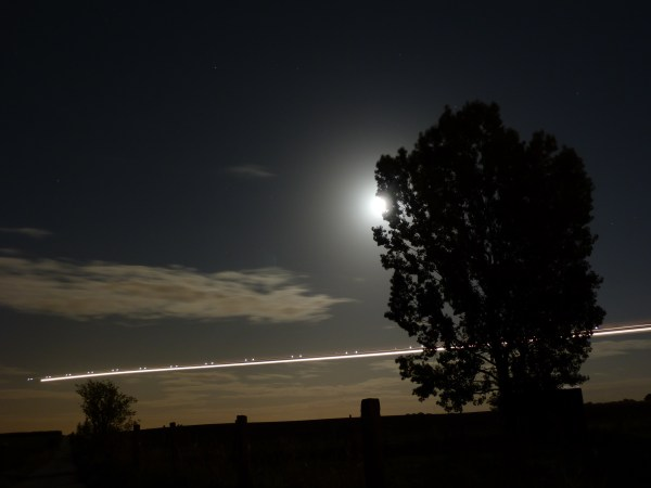 """Airplane Night Sky """" Beauty Sees"""