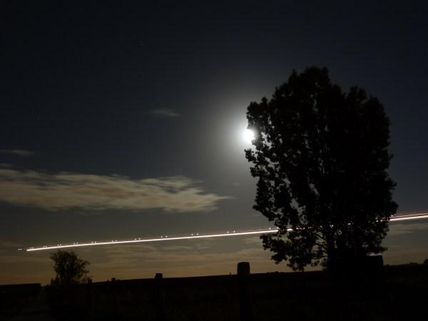 Airplane Night Sky
