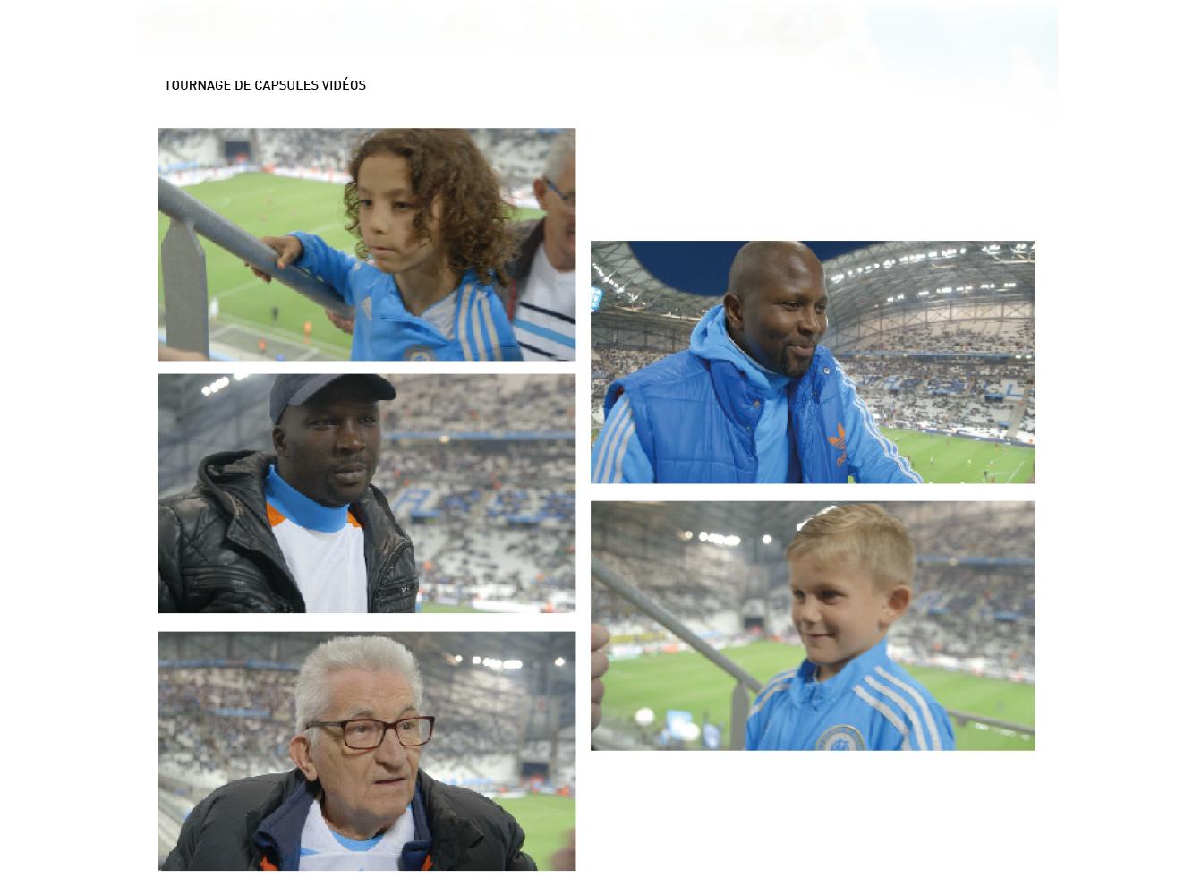 tournage clip video campagne d'abonnement OM