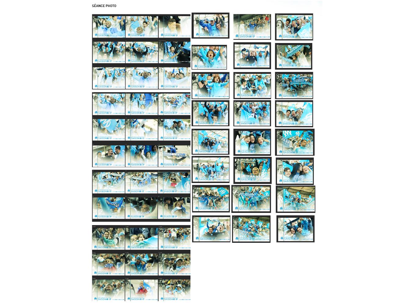 organisation et gestion seance photo campagne d'abonnement OM