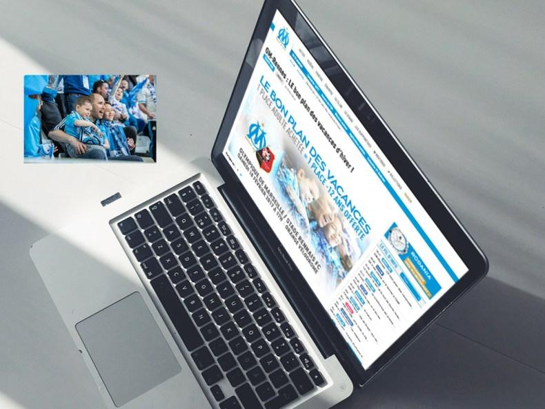 visuel OM.net campagne d'abonnement Olympique de Marseille