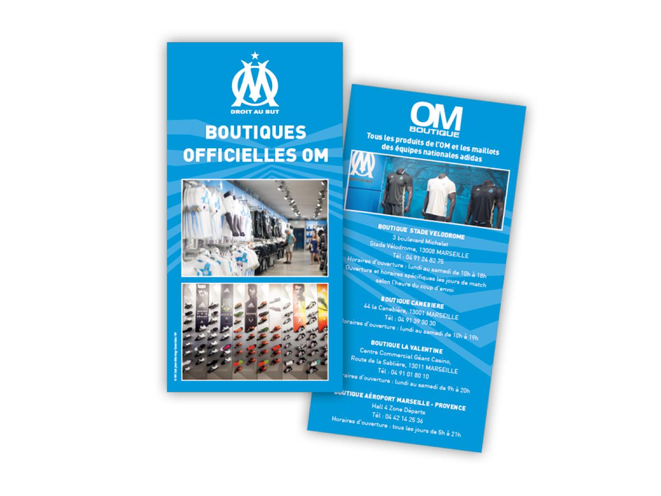 flyer boutiques Olympique de Marseille
