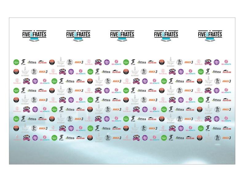 backdrop photocall tournoi Five des Frates Remy Cabella et Julien Tanti