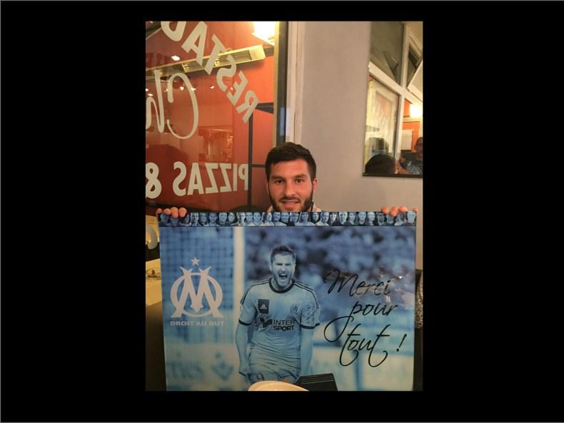cadre Plexi cadeau Andre-Pierre Gignac Olympique de Marseille