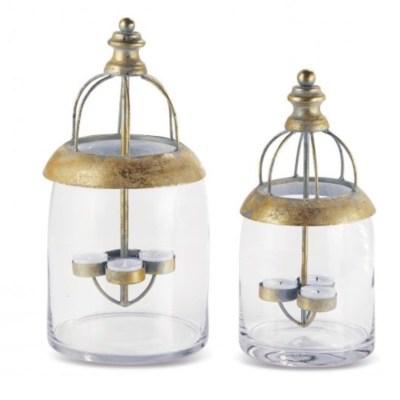 location-lanterne-verre-métal-doré-vieilli