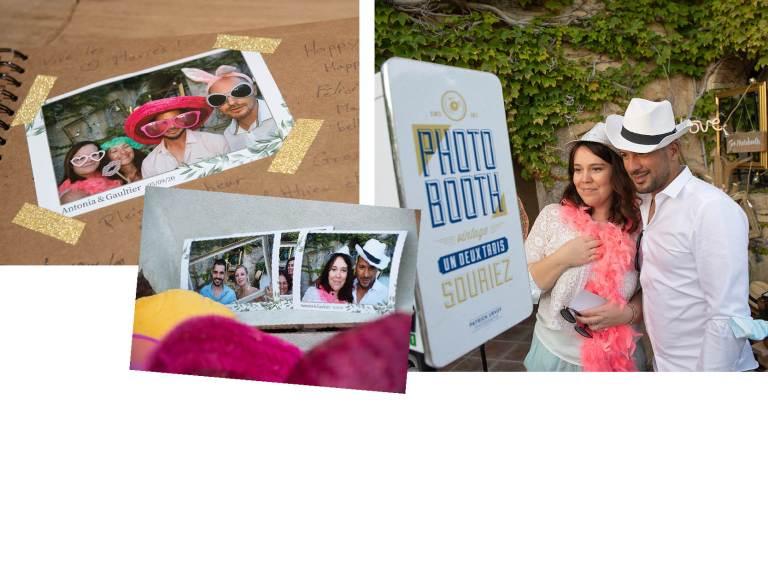 photobooth mariage Antonia et Gauthier Abbaye sainte croix