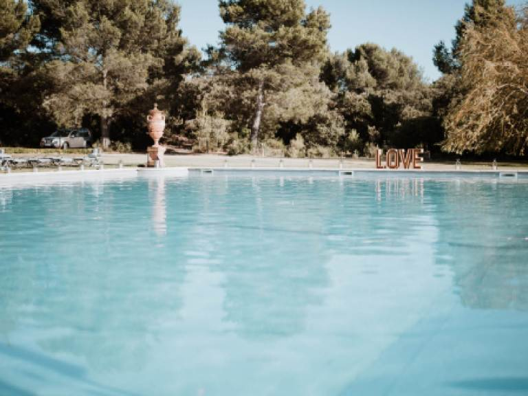 piscine mariage Charlene et Fabien Bastide d'Astre-