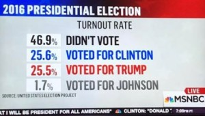 MSNBC posted this graphic based on early information from The United States Election Project.