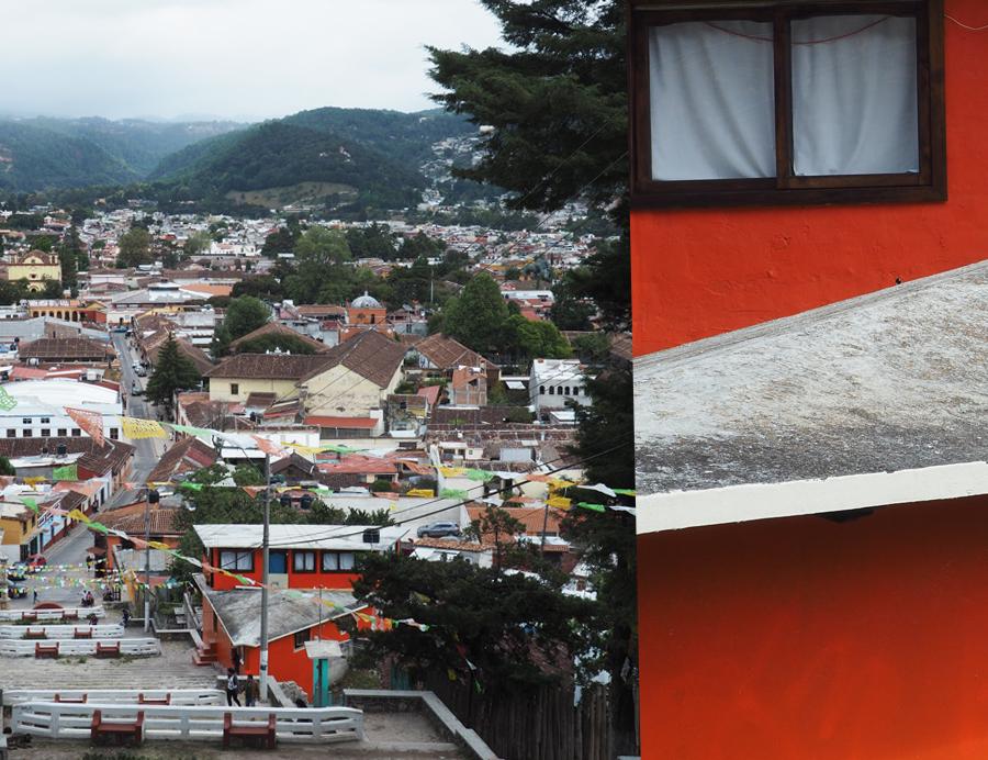 Vue depuis une des nombreuses églises de la ville, perchée en haut d'une colline.