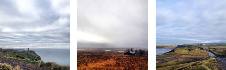 Paysages irlandais en hiver