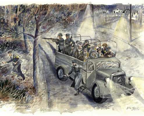 Crveni automobil - scena 7 - Pavlovo bekstvo