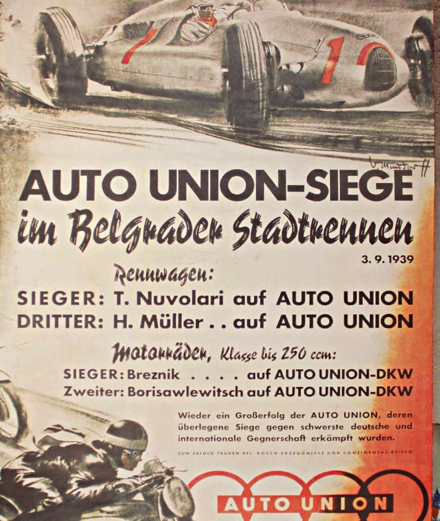 Poster for Car Racing in Belgrade