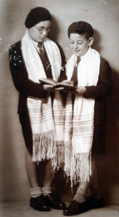 Two Jewish boys at a bar mitzvah in pre-war Belgrade