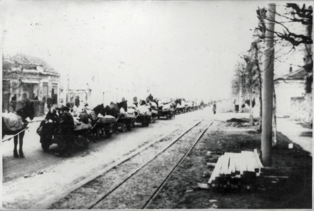 Спровођење Јевреја у логор на Сајмишту