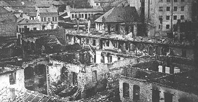 Народна библиотека Србије након бомбардовања