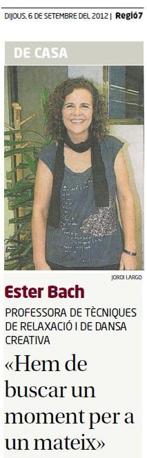Ester-Bach-Cuidar-el-cos-entrevistaregio7-06092012-part1