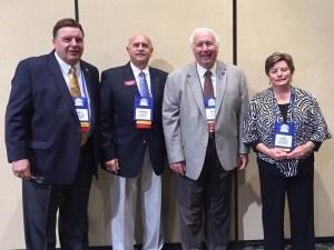 Shown, left to right, Bill Ribble, Vice-Mayor Howard Levitan, Mayor Nick Batos and Katy Errington.
