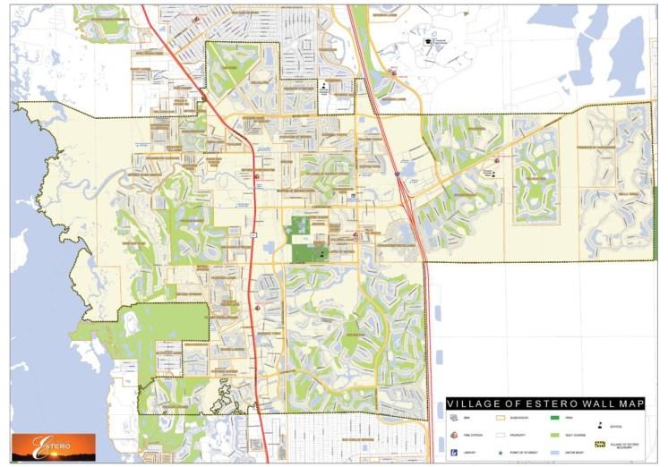 interactive map of estero boundaries