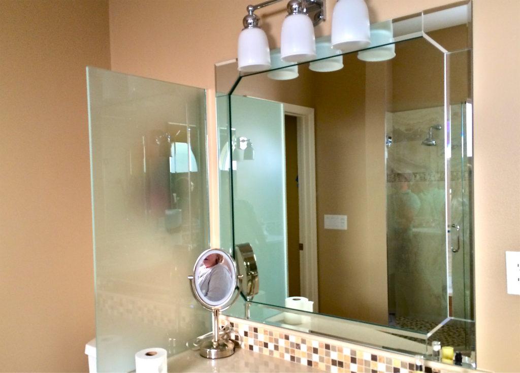 Beveled Mirror Strips  Estero Shower  Glass