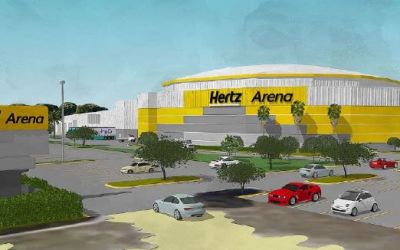 Does the Hertz Arena revised paint scheme meet code?