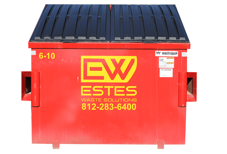 6 yard dumpsters are some of our most popular dumpsters. They are great for medium volume businesses or medium to large apartment complexes.  These are available with either top load or side door access. They can also be configured with casters or locking lids.