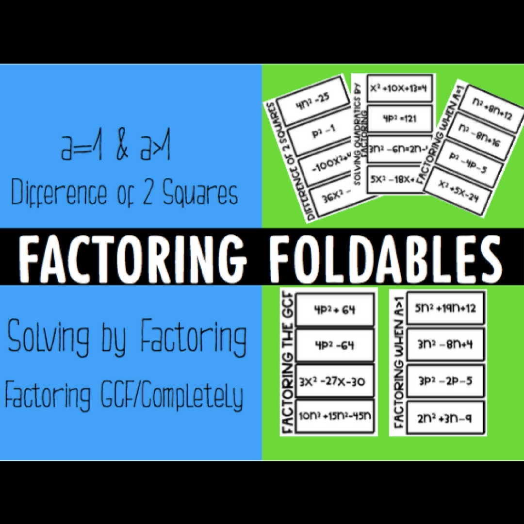 Factoring Polynomials Foldables Esther Brunat